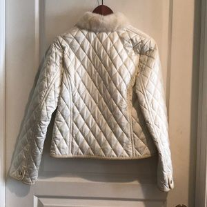 Coach Jackets & Coats - NWOT Coach quilted jacket w fur collar